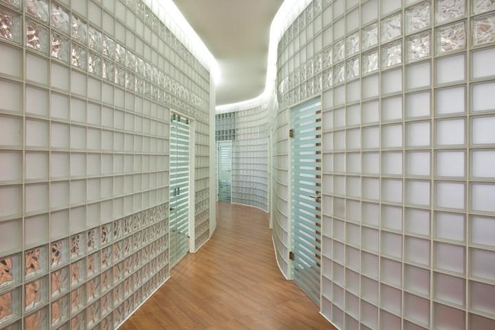 Glass Block Interior Wall