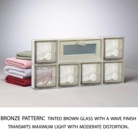 Bronze Glass Block Pattern