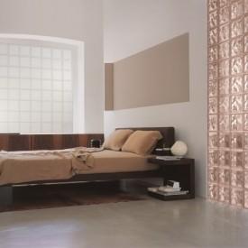 Glass block bedroom