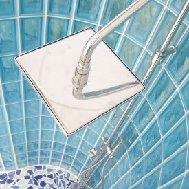 Custom Glass Block Shower