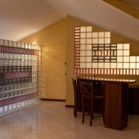 Glass Block Partition Wall